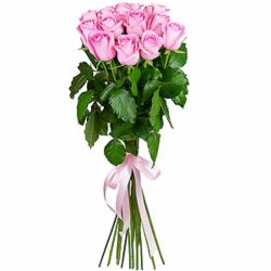 Букет из 15 розовых российских роз-премиум